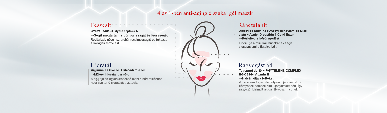 NARÜKO am+pm 10 peptides feszesítő maszk