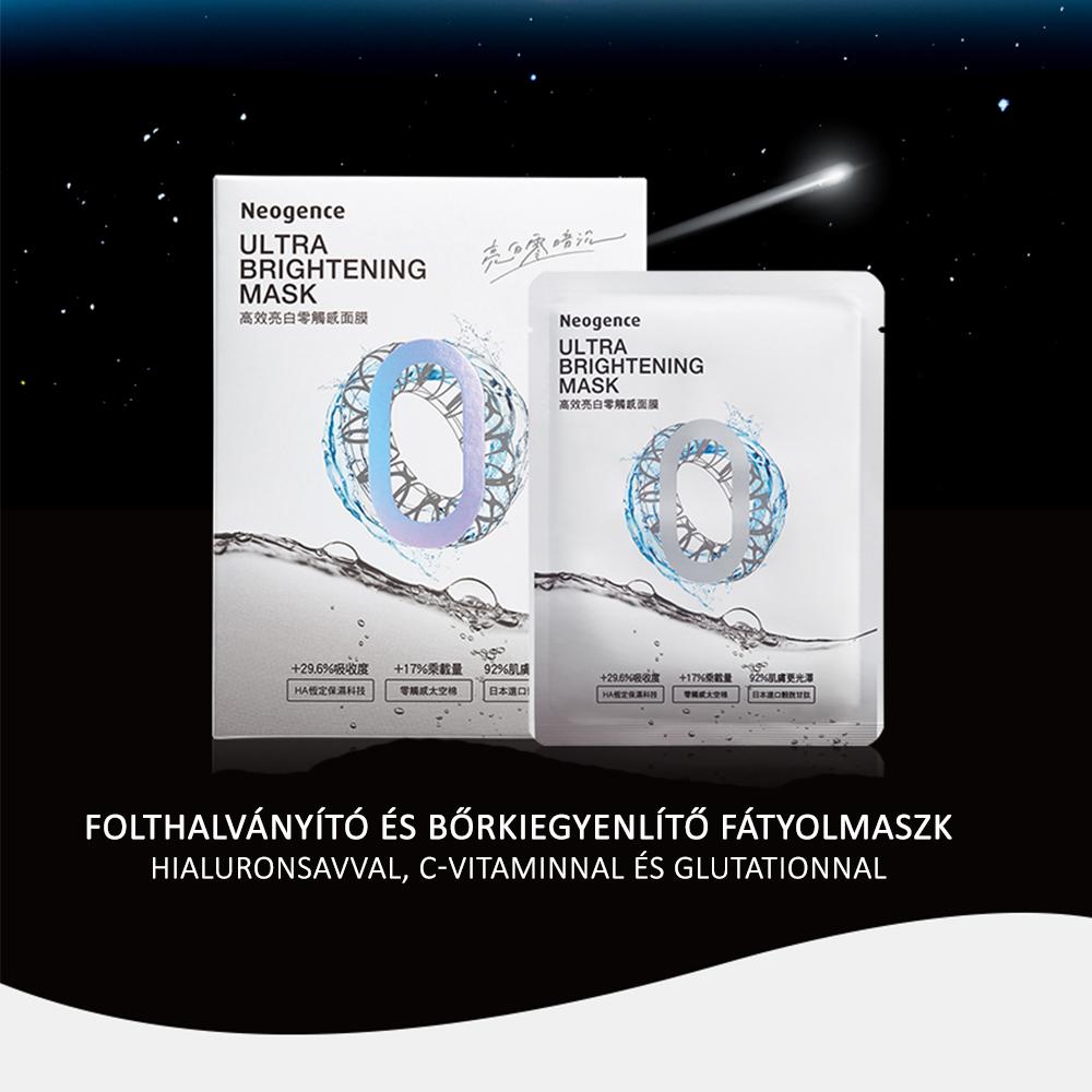 Neogence N9 prémium hialuronsavas folthalványító fátyolmaszk