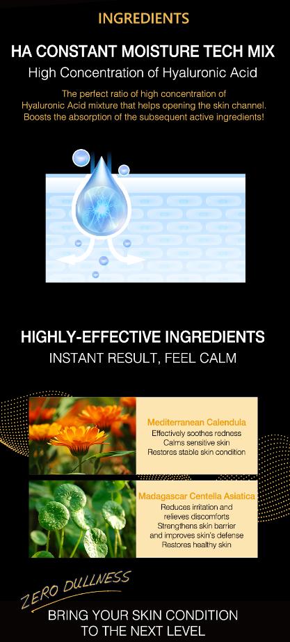 Neogence N9 prémium hialuronsavas bőrnyugtató fátyolmaszk
